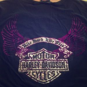 Unique Harley Davidson Cropped T-Shirt XL
